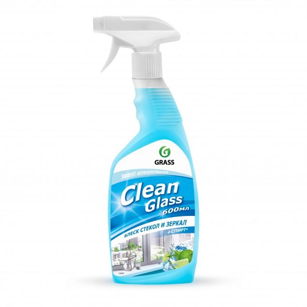 Чистящее средство для стекол и зеркал CLEAN GLASS «Голубая лагуна» 125247 (флакон 600 мл)