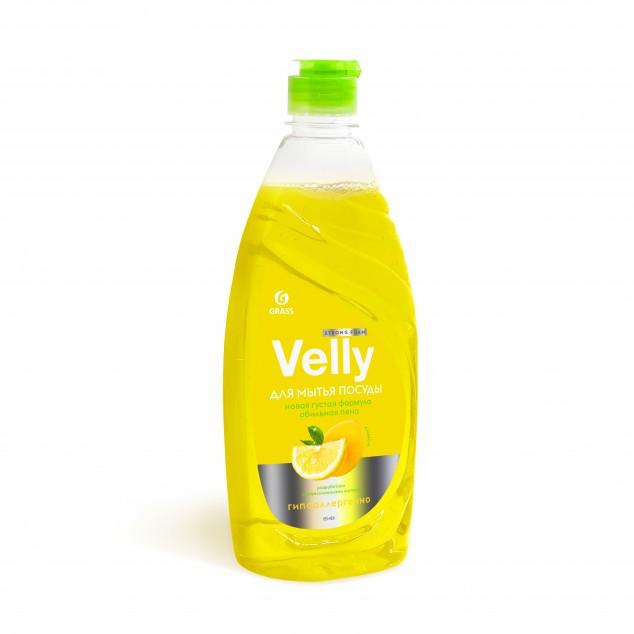 Средство для мытья посуды VELLY «Лимон» 125426, флакон с откидной крышкой 500 мл