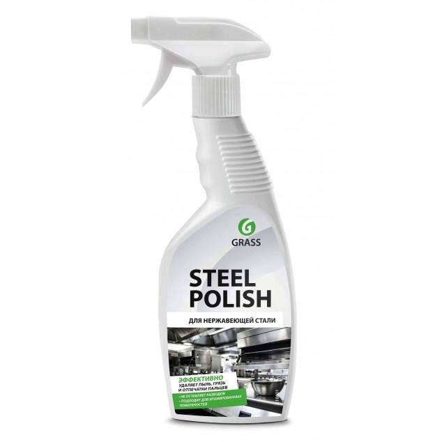Средство для очистки изделий из нержавеющей стали STEEL POLISH 218601, флакон 600 мл