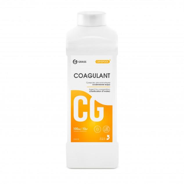 Средство для коагуляции (осветления) воды CRYSPOOL COAGULANT 150004, канистра 1 литр