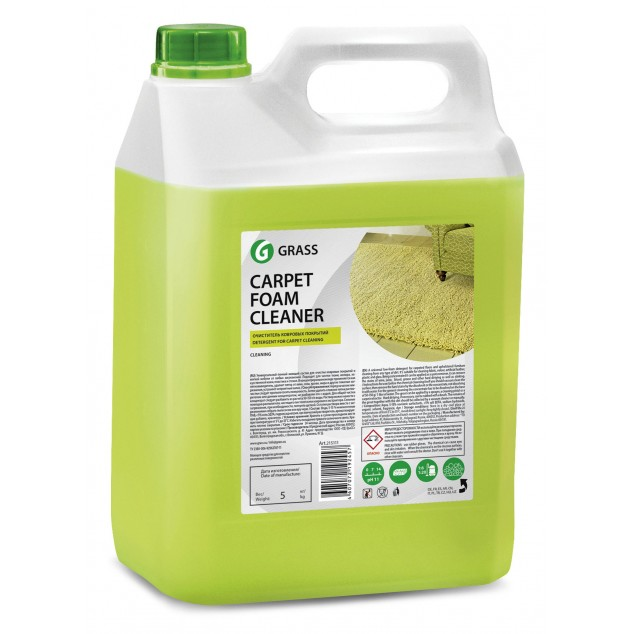 Очиститель ковровых покрытий CARPET FOAM CLEANER 125202, канистра 5.4 кг