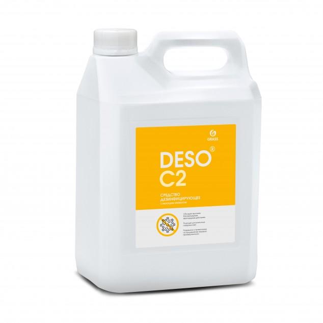 Дезинфицирующее средство с моющим эффектом на основе ЧАС «DESO C2» 125585, канистра 5 литров