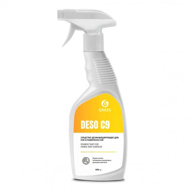 Дезинфицирующее средство на основе изопропилового спирта «DESO C9» 550023, флакон с триггером 600 мл