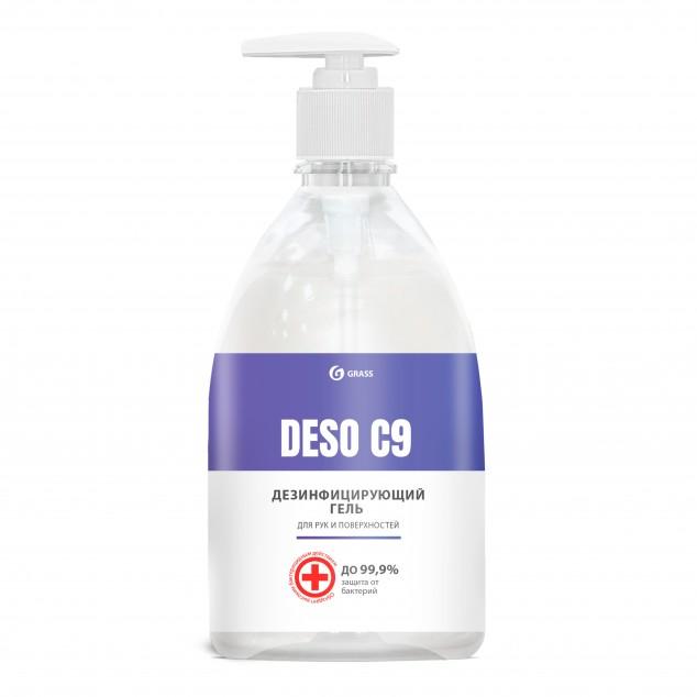 Дезинфицирующее средство, гель на основе изопропилового спирта «DESO C9» 550072, флакон с дозатором 500 мл