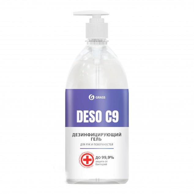Дезинфицирующее средство, гель на основе изопропилового спирта «DESO C9» 550073, флакон с дозатором 1 литр