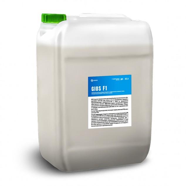 Щелочное пенное моющее средство с содержанием активного хлора «GIOS F1» 550029, канистра 19 литров