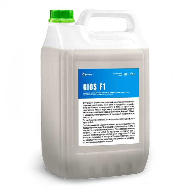 Щелочное пенное моющее средство с содержанием активного хлора «GIOS F1» 550058, канистра 5 литров