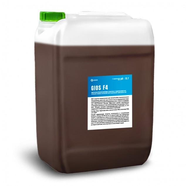 Щелочное пенное моющее и дезинфицирующее средство с содержанием ЧАС «GIOS F4» 550032, канистра 19 литров