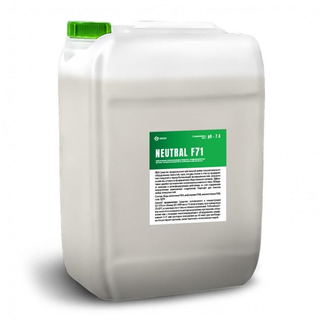 Нейтральное пенное моющее и дезинфицирующее средство с содержанием ЧАС «NEUTRAL F71» 550044, канистра 19 литров