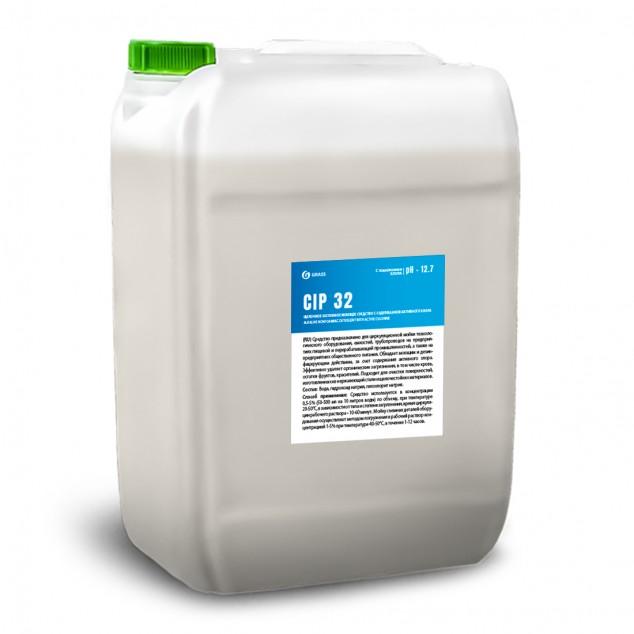 Щелочное беспенное моющее средство с содержанием активного хлора «CIP 32» 550038, канистра 19 литров