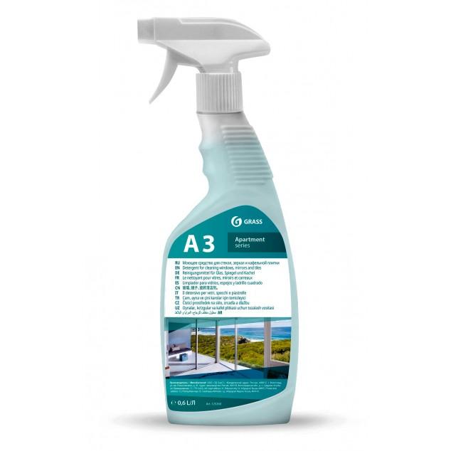 А3 Чистящее средство для стекол, зеркал и кафельной плитки (флакон 600 мл)