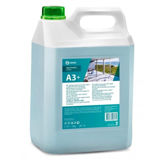 А3+ Чистящее средство для стекол, зеркал и кафельной плитки, Концентрат (канистра 5 кг)