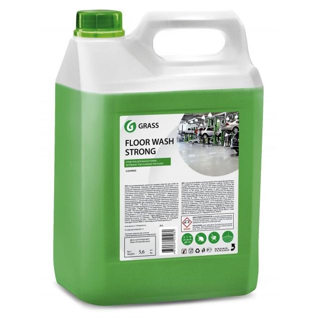 Щелочное средство для мытья пола FLOOR WASH STRONG 125193, канистра 5.6 кг