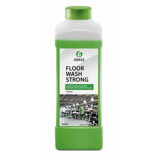 Щелочное средство для мытья пола FLOOR WASH STRONG 250100, канистра 1 литр