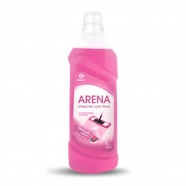 Средство для пола с полирующим эффектом «Arena» Цветущий лотос (канистра 1 л)