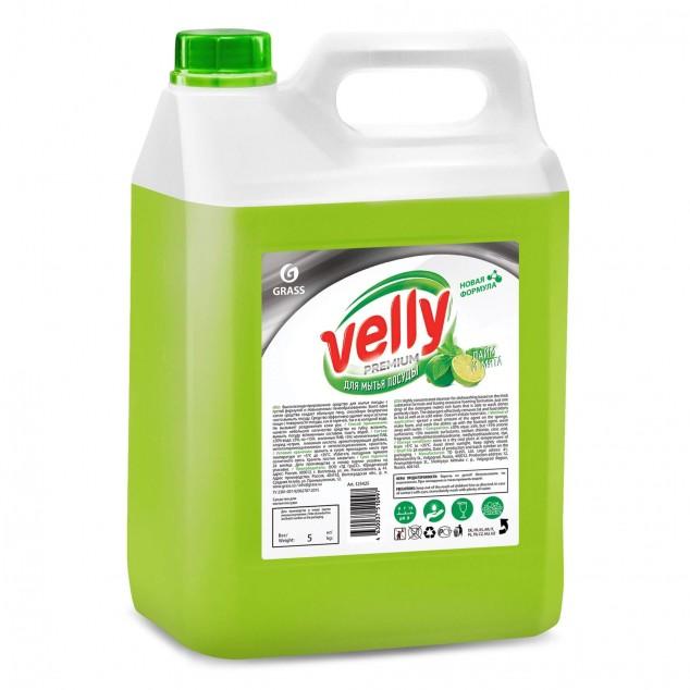 Средство для мытья посуды VELLY «Premium» Лайм и Мята 125425, канистра 5 кг