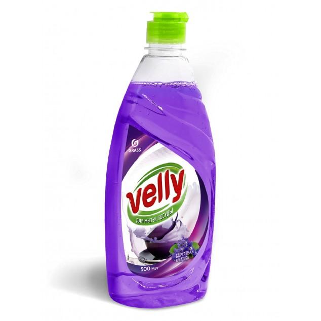 Средство для мытья посуды VELLY «Бархатная Фиалка» 125383, флакон с откидной крышкой 500 мл