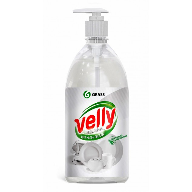Средство для мытья посуды VELLY «Neutral» 125434, флакон с дозатором 1 литр
