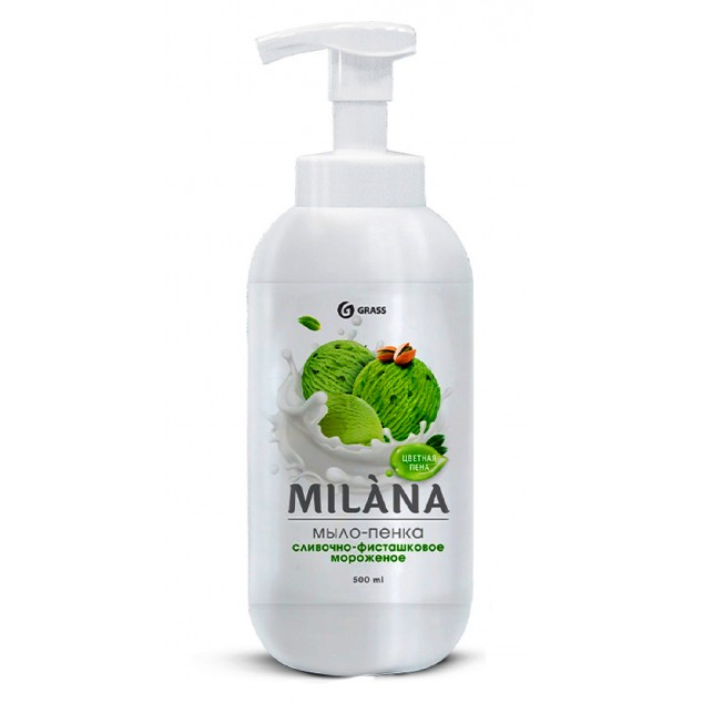 Мыло-пенка MILANA «Сливочно-фисташковое мороженое» 125421, флакон 500 мл