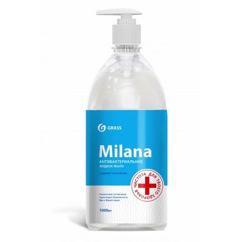 Жидкое мыло «MILANA Антибактериальное» 125435, с дозатором, флакон 1000 мл