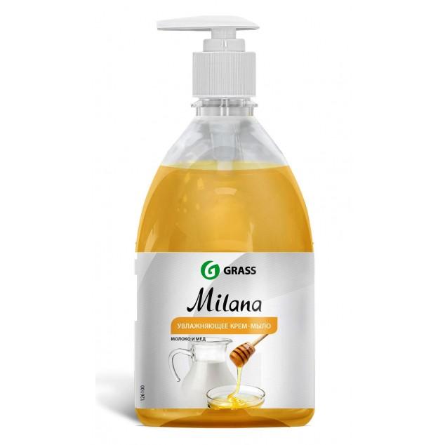 Жидкое крем-мыло «Milana» Молоко и Мёд, с дозатором (флакон 500 мл)