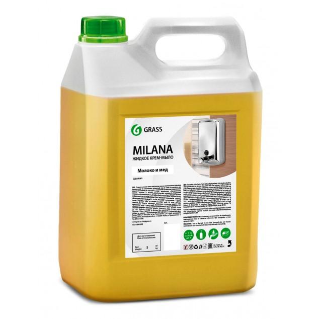 Жидкое крем-мыло «Milana» Молоко и Мёд (канистра 5 кг)