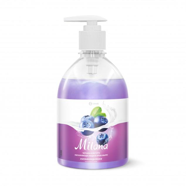 Жидкое крем-мыло «Milana» Черника в йогурте, с дозатором (флакон 500 мл)