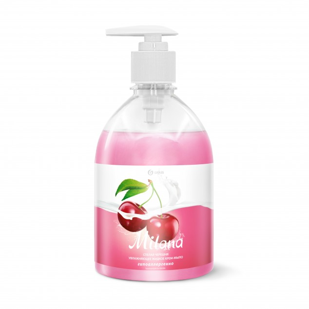 Жидкое крем-мыло «Milana» Спелая черешня, с дозатором (флакон 500 мл)